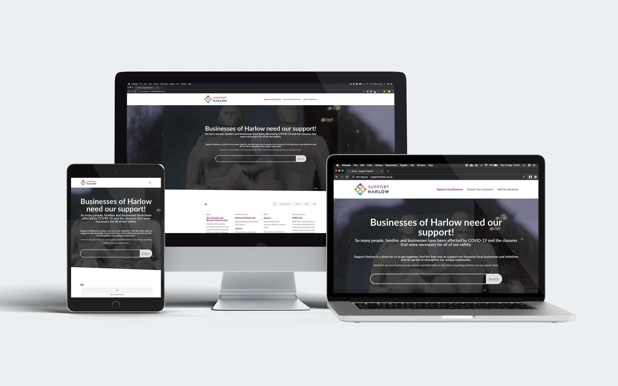 Support-Harlow-Website