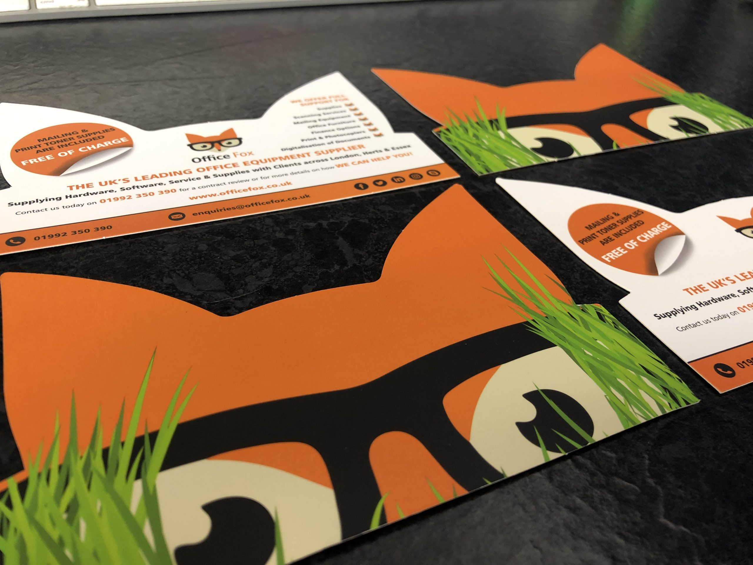 Office-Fox-A6-Shaped-Leaflet